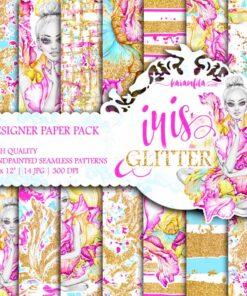 Iris Glitter Paper Pack