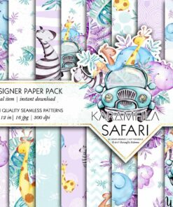 Safari Patterns -Pastels-