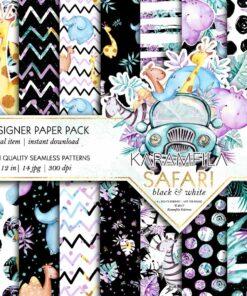 Safari Patterns -B&W-