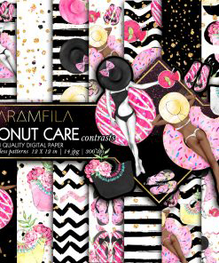 Donut Care -Contrasts- Patterns