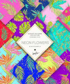 Neon Flowers Patterns