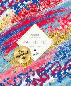 Patriotic Brush Strokes