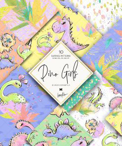 Dino Girls Papers